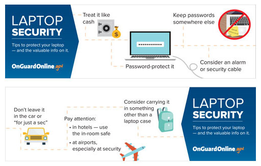 Laptop Security bookmark