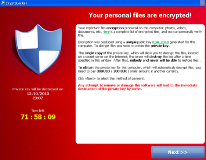 Cryptolocker Ransom Note
