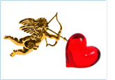 Image of cupid and heart