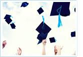 Image of graduation hats