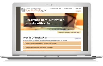 Click here to visit IdentityTheft.gov