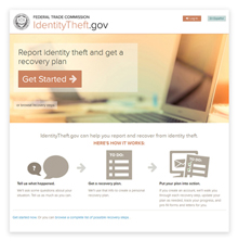 IdentityTheft.gov Homepage