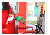 Image of car at gas station