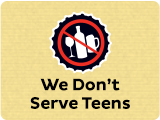 We Don't Serve Teens logo
