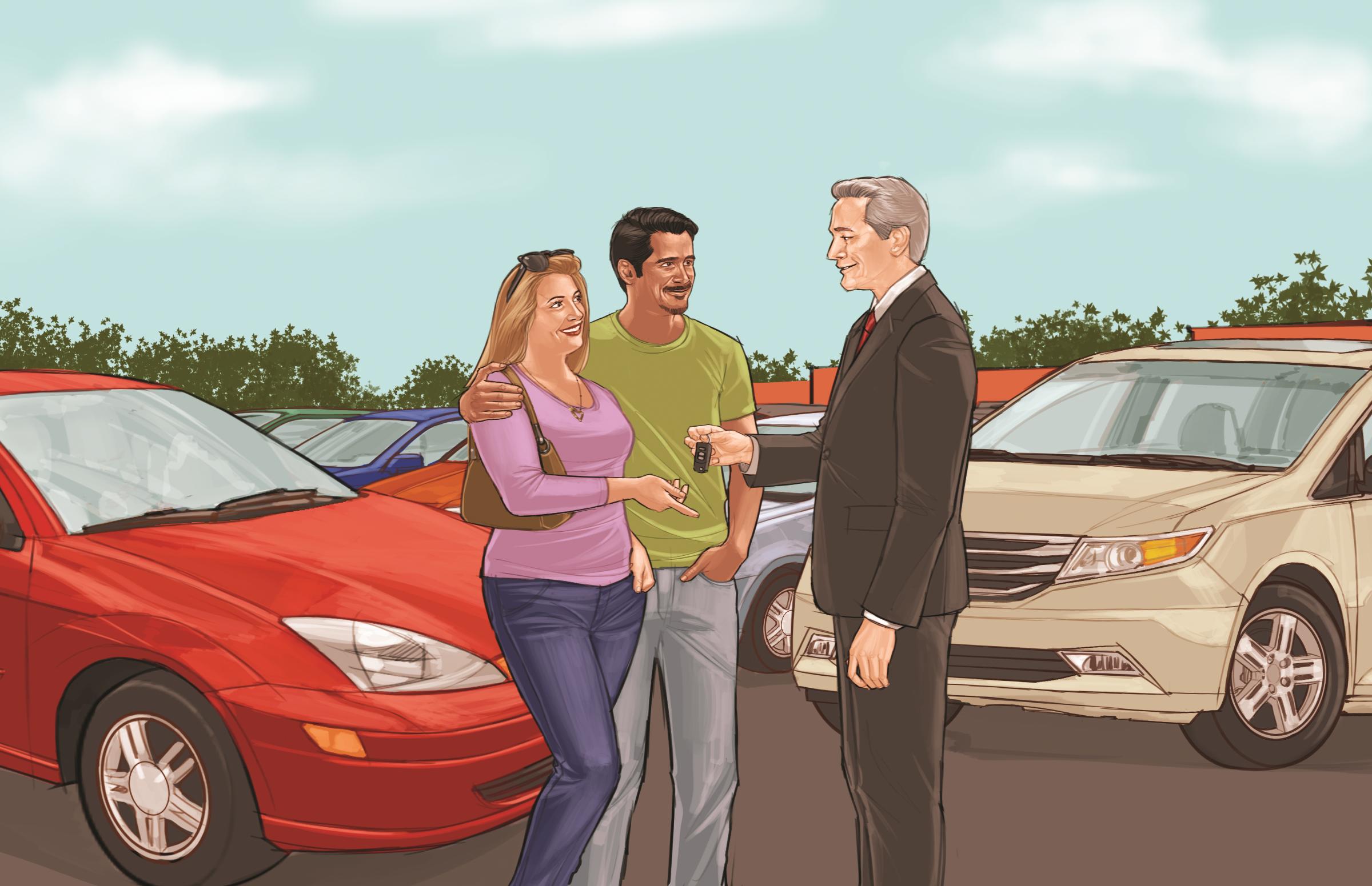 Manuel avoids car-buying trouble [fotonovela] | Consumer Information