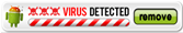 virus detected image with a remove button