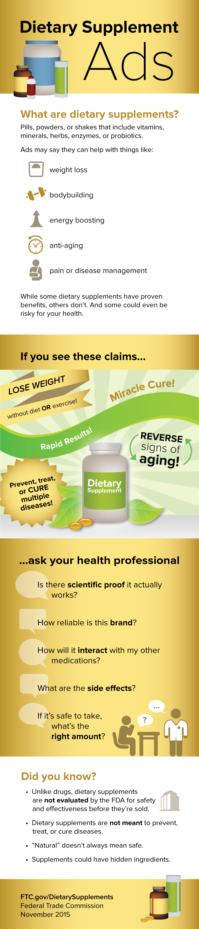 dietary supplements | consumer information