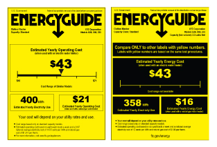 energy guide labels
