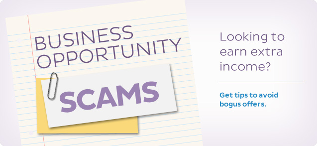 Business Opportunity Scams, Looking to earn extra income?  Get tips to avoid bogus offers.