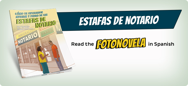 Estafas de notario, Read the fotonovela in Spanish