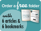 Order a free folder with 6 articles and 6 bookmarks