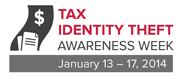 tax identity theft awareness logo