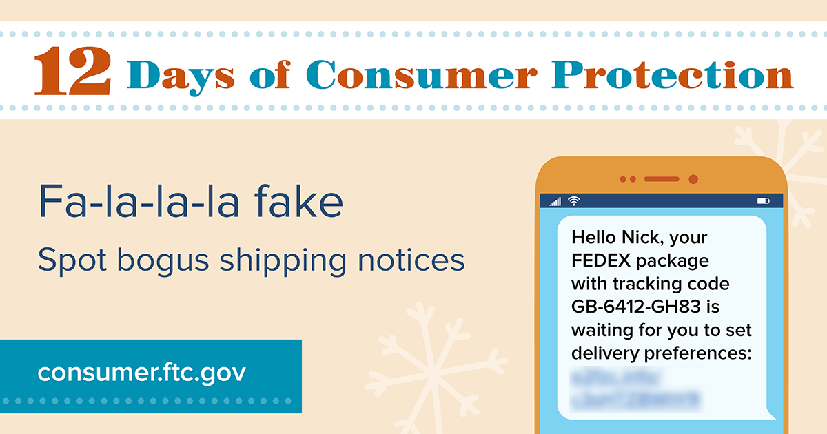 Fa-la-la-la fake, spot bogus shipping notices