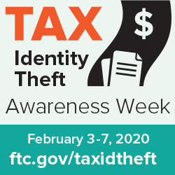 Logo for Tax Identity Theft Awareness Week 2020