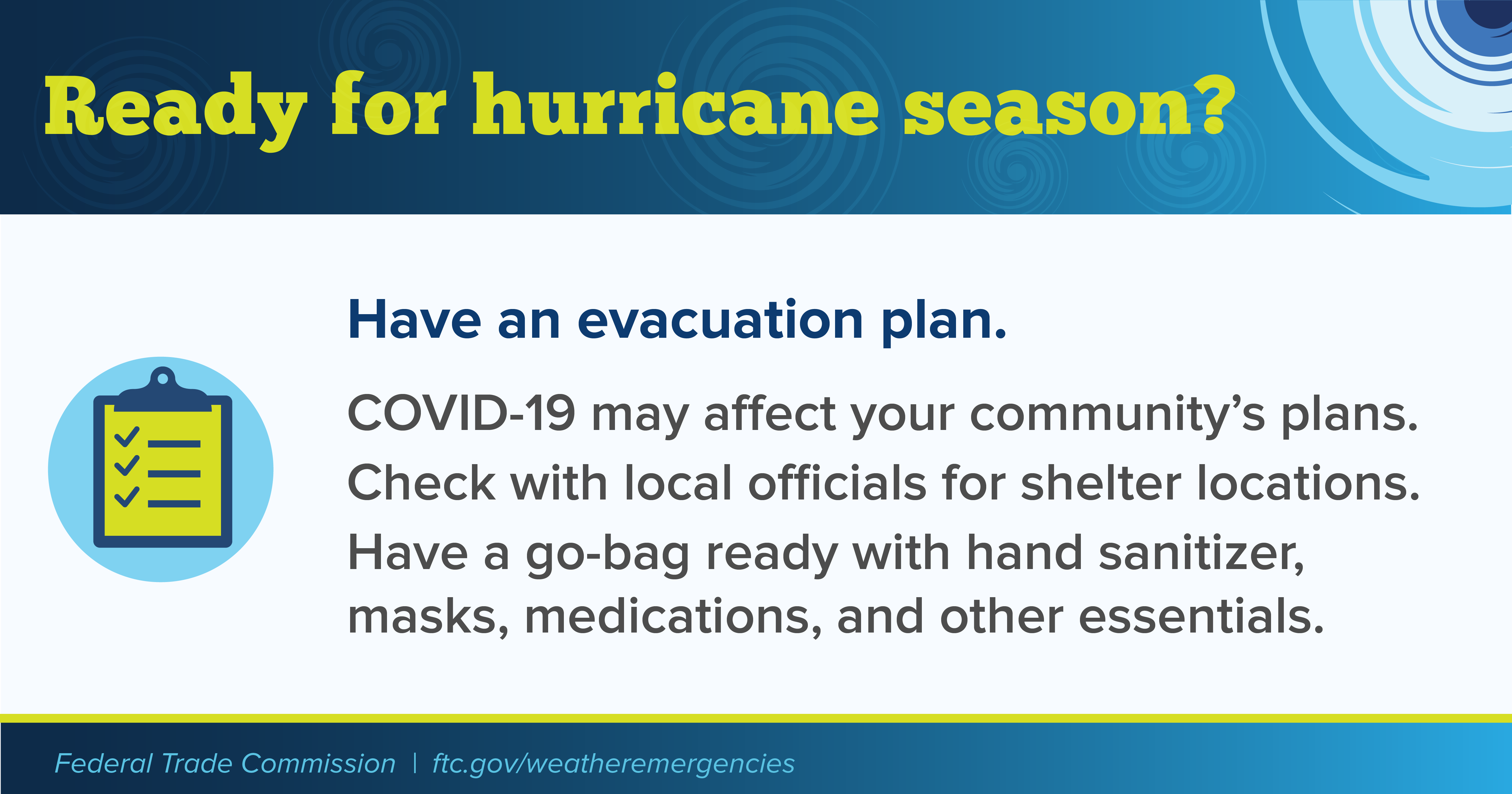 Have an evacuation plan