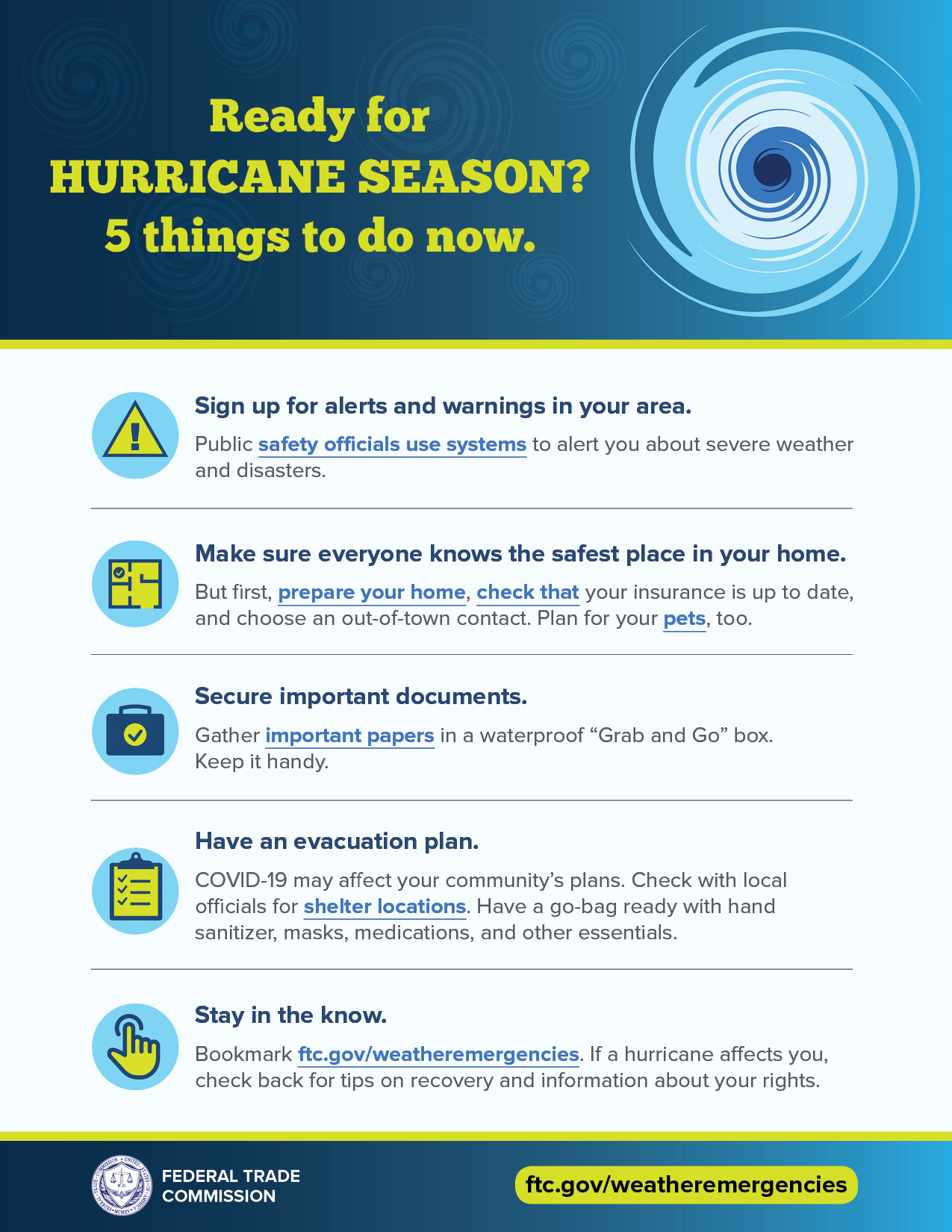 Ready for hurricane season? 5 things to do now.