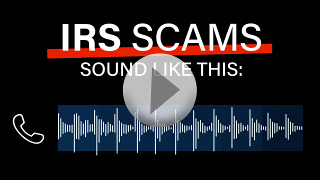 IRS scams sound like this...