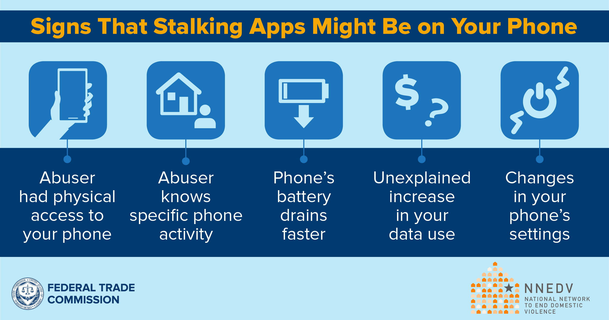 signs that suggest a stalking app could have been installed on your phone