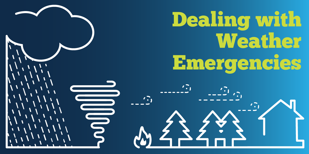 Dealing with weather emergencies graphic
