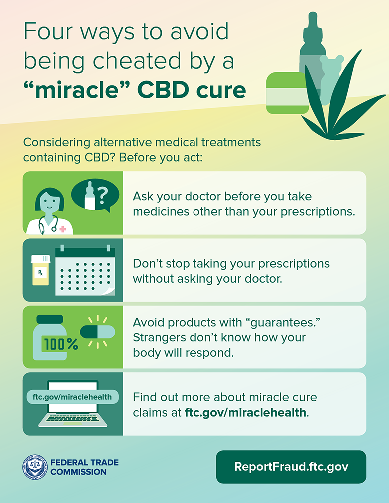 "Four ways to avoid being cheated by a ""miracle"" CBD cure"