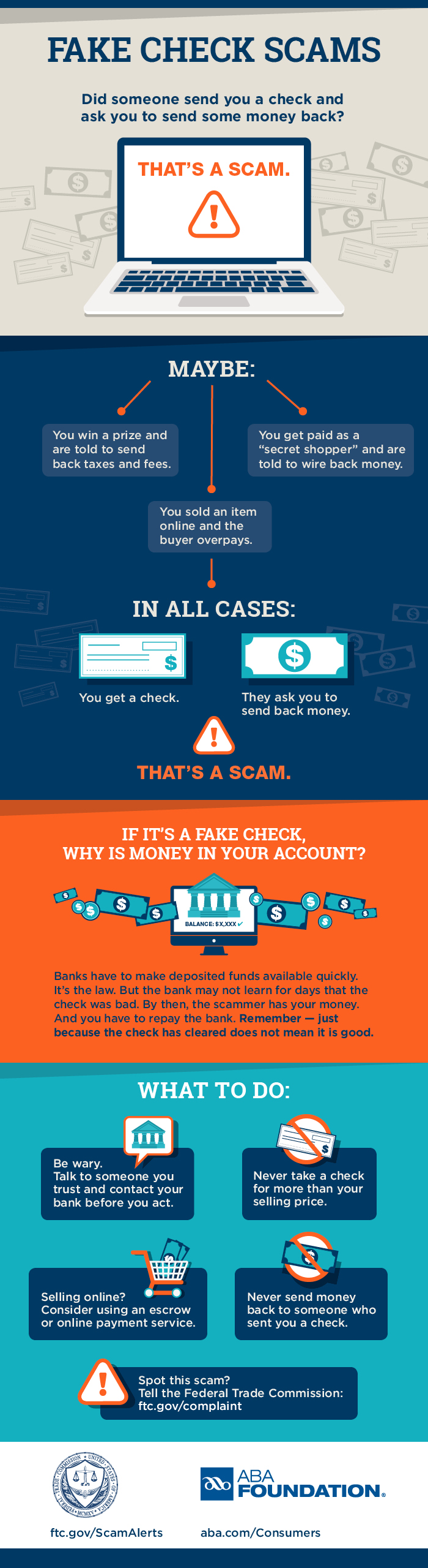 Anatomy of a fake check scam | Consumer Information