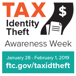 Tax Identity Theft Awareness Week logo.