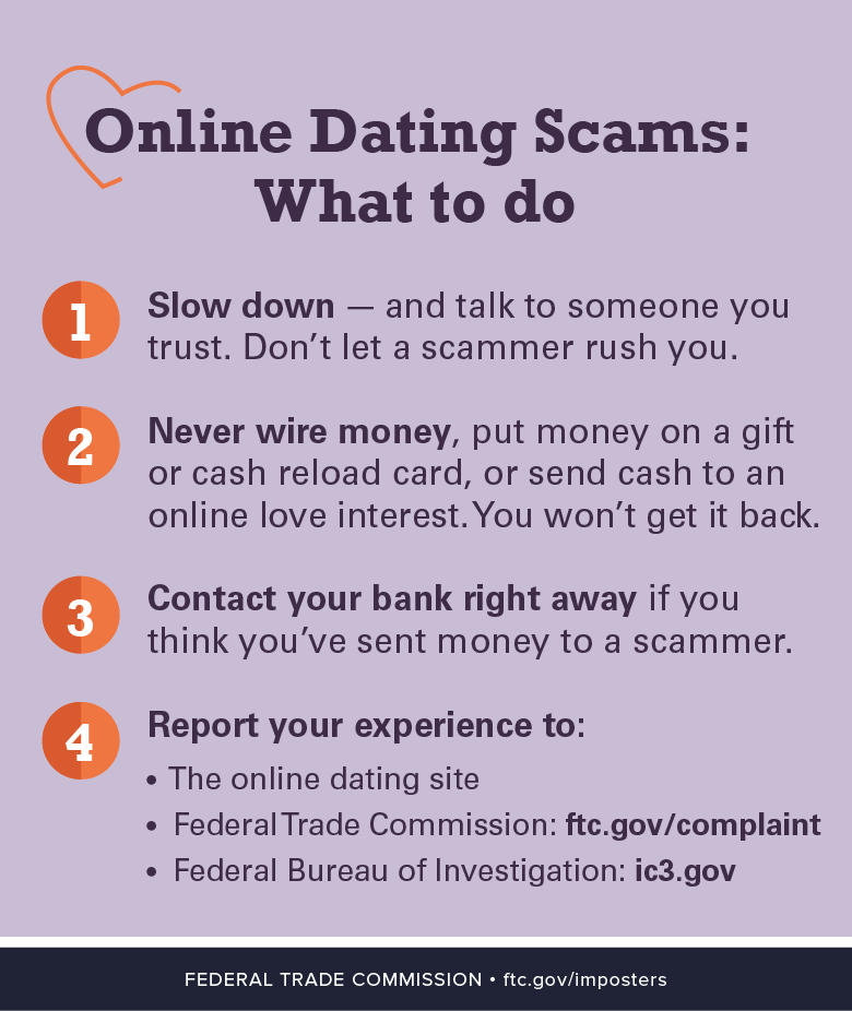 How to report a online dating scam