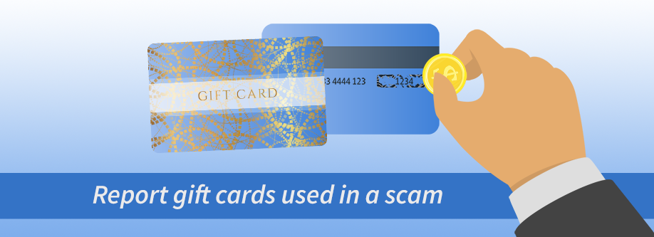 Report gift cards used in a scam