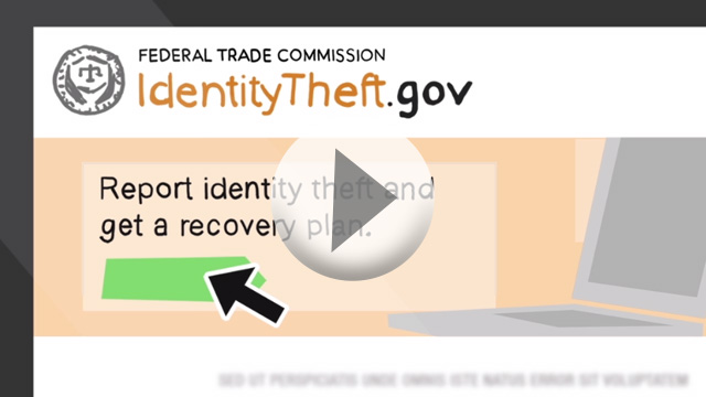 home screen of Identity Theft dot gov