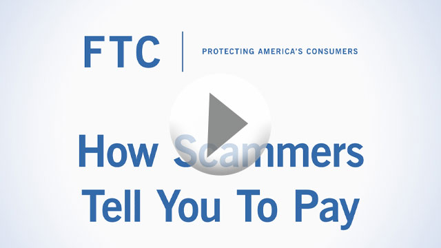 How scammers tell you to pay video