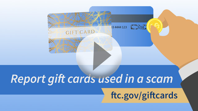 Report gift card used in a scam