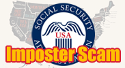 Social Security Administration seal with the text Imposter Scam over top